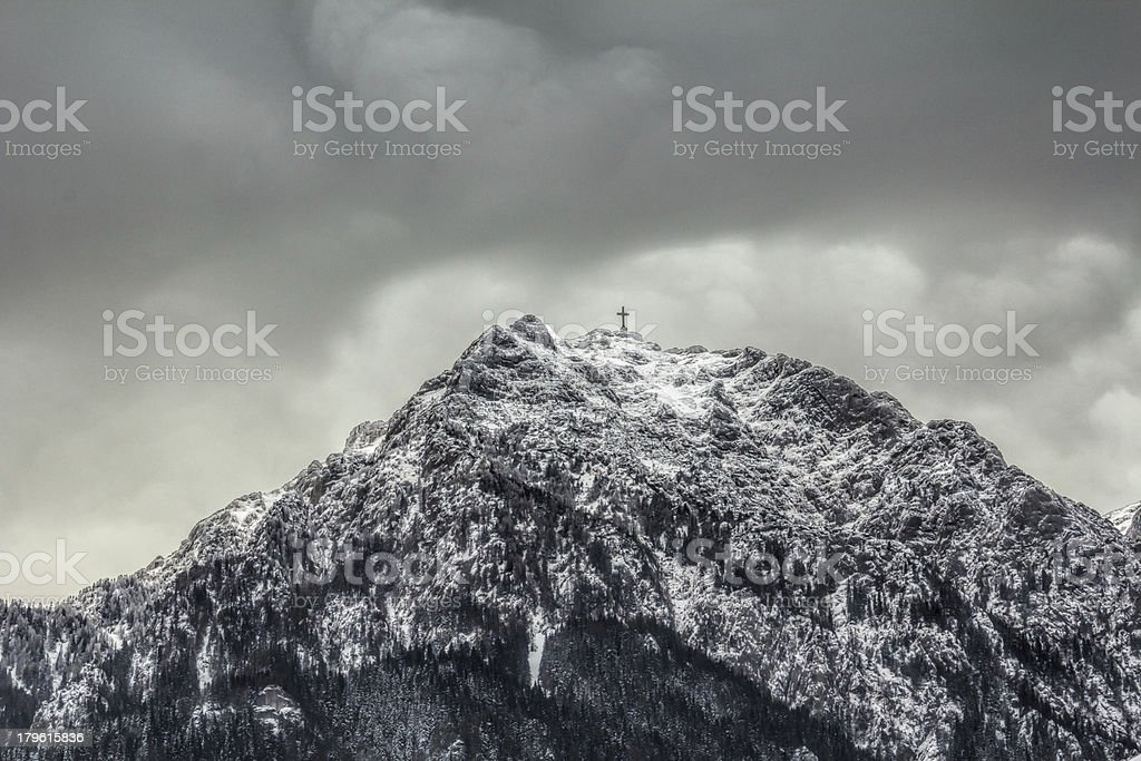 Mountain peak in Carpathians mountains royalty-free stock photo