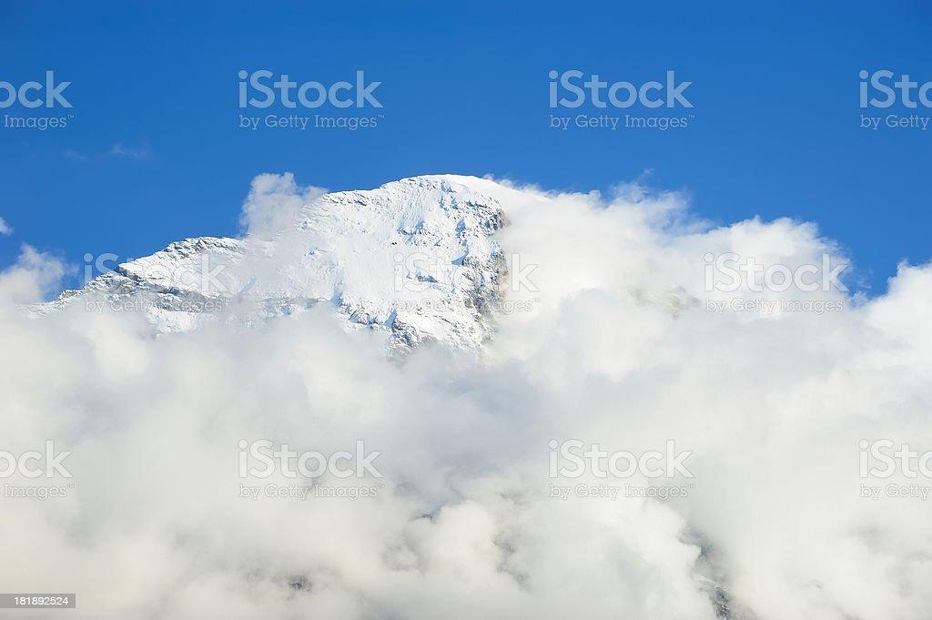 Mountain Peak in Fog royalty-free stock photo