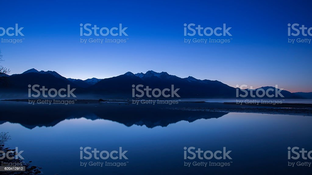 Mountain peak in New Zealand stock photo