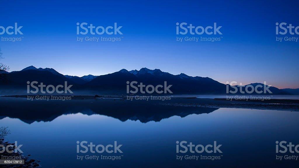 Mountain peak in New Zealand stock photo