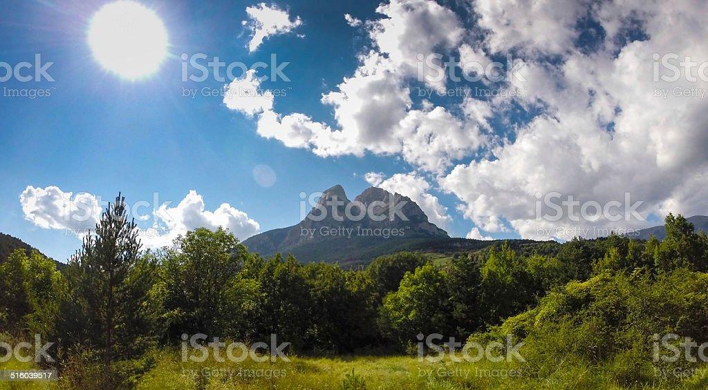 Mountain Peak in Pyrenees stock photo