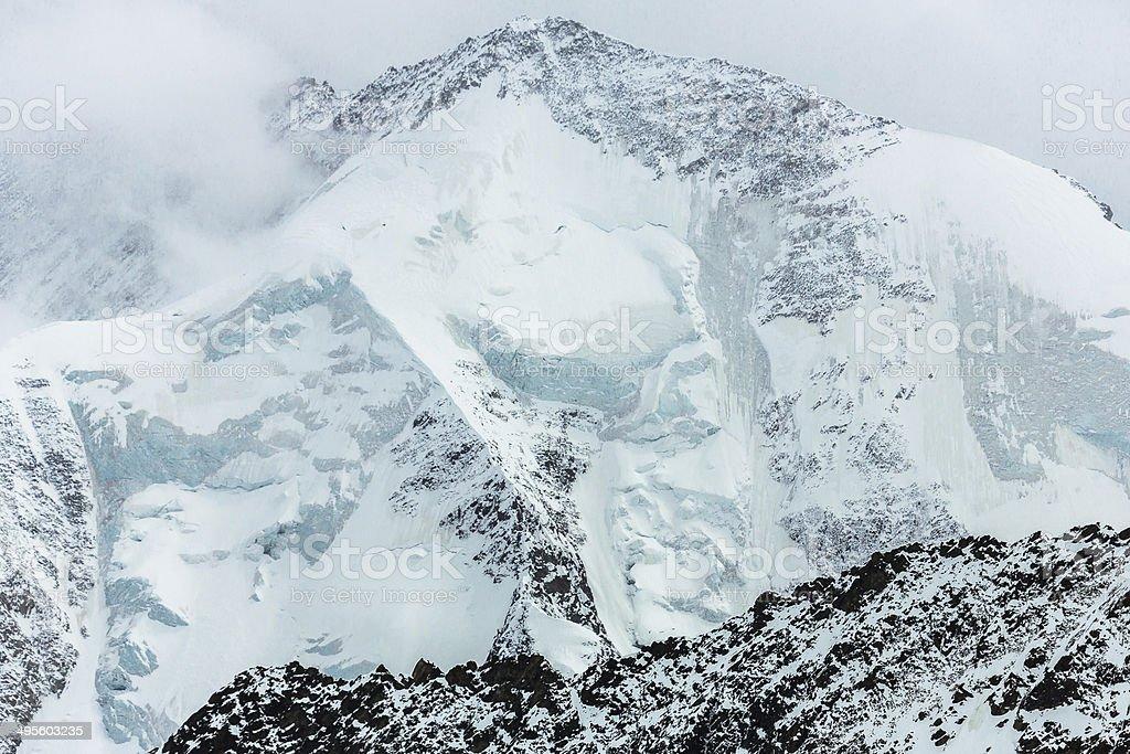 Mountain Peak in Swiss Alps stock photo