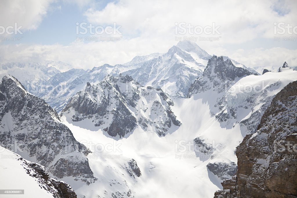 Mountain peak, Mount Titlis, Switzerland stock photo
