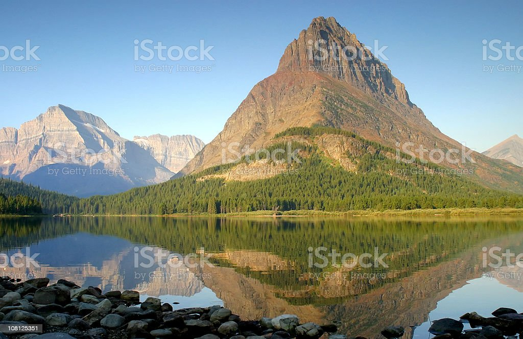Mountain Peak Reflected royalty-free stock photo
