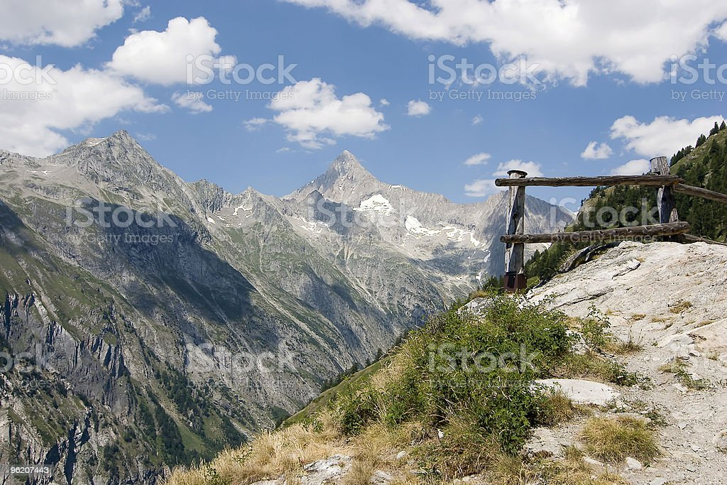 Mountain peak, the Swiss Alps royalty-free stock photo