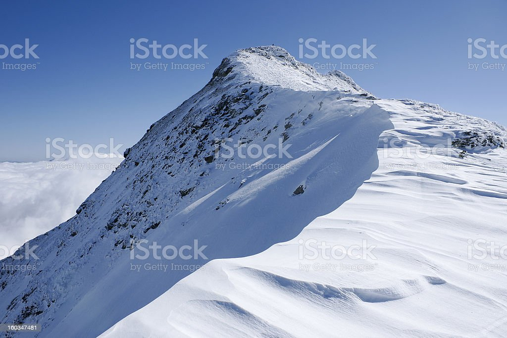 Mountain Peak With Snow royalty-free stock photo