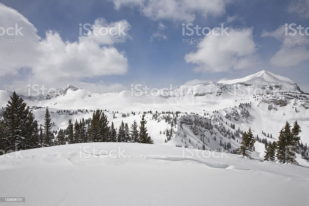 Mountain Peaks Behind the Bowl. royalty-free stock photo