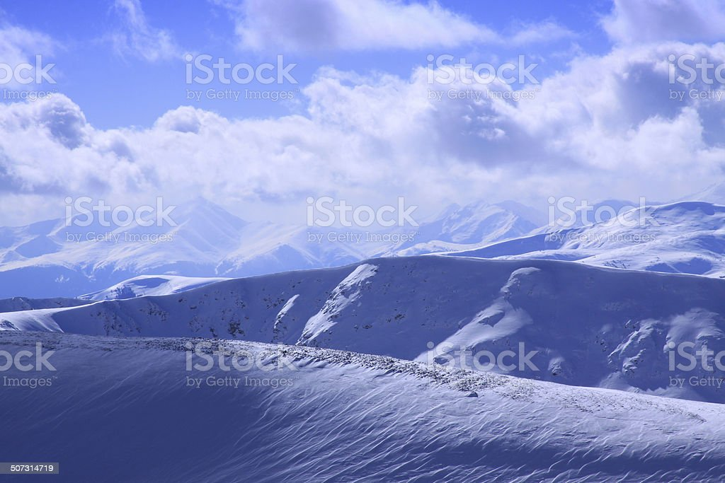 Mountain peaks in Colorado stock photo