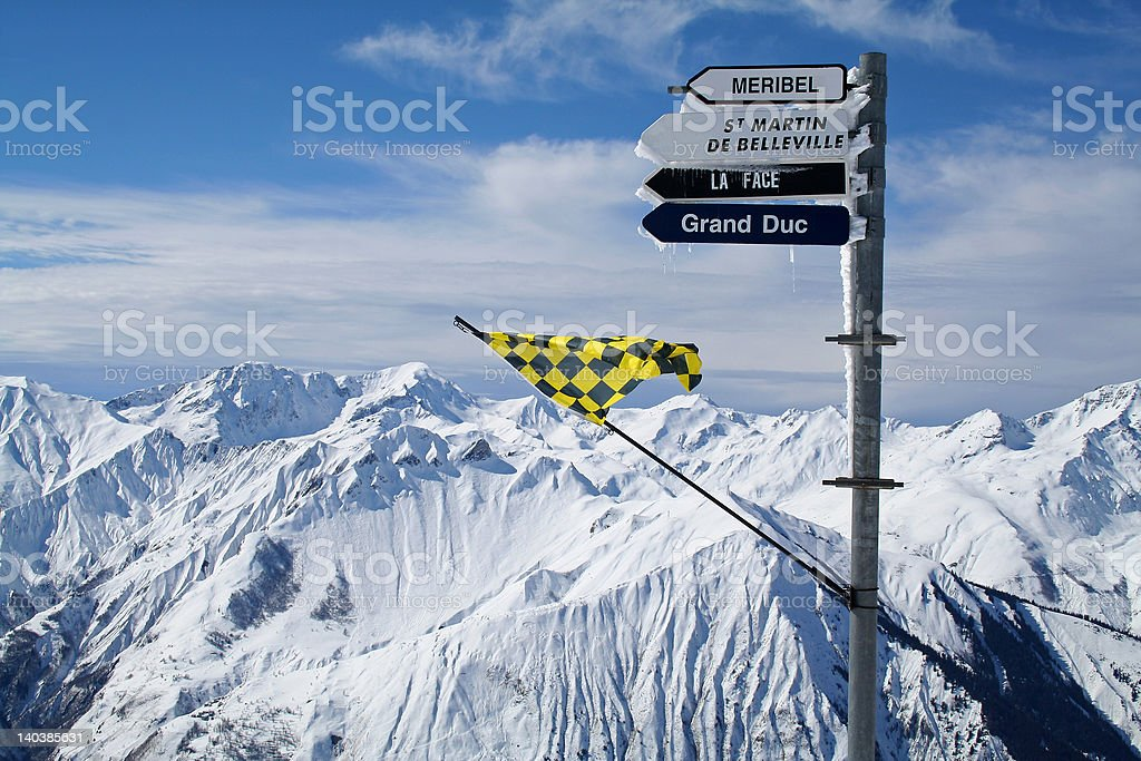 Mountain Peaks in France stock photo