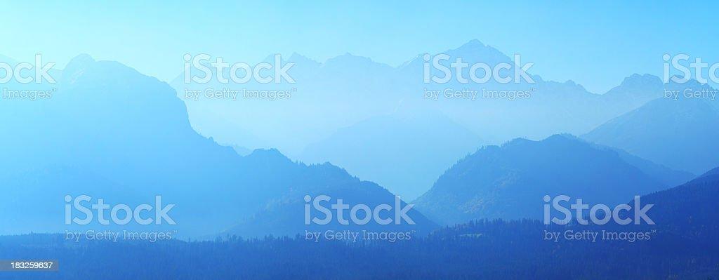 Mountain Peaks Panorama royalty-free stock photo