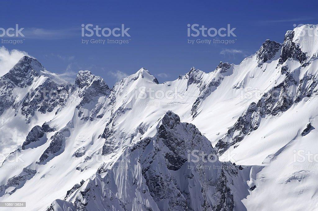 Mountain Peaks royalty-free stock photo