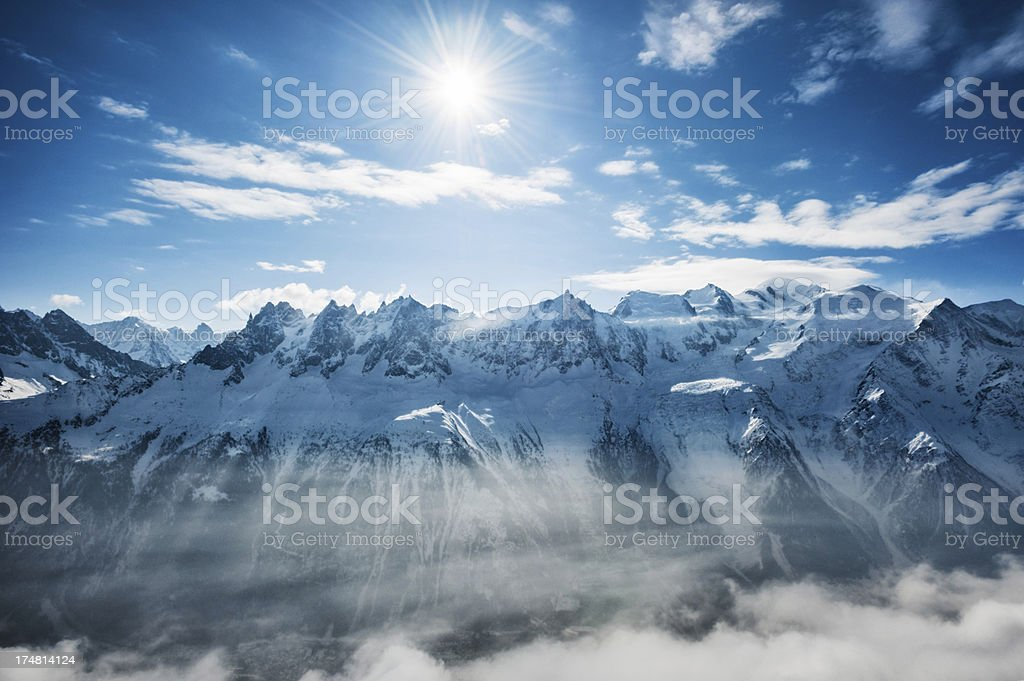 Mountain Peaks royalty-free stock photo