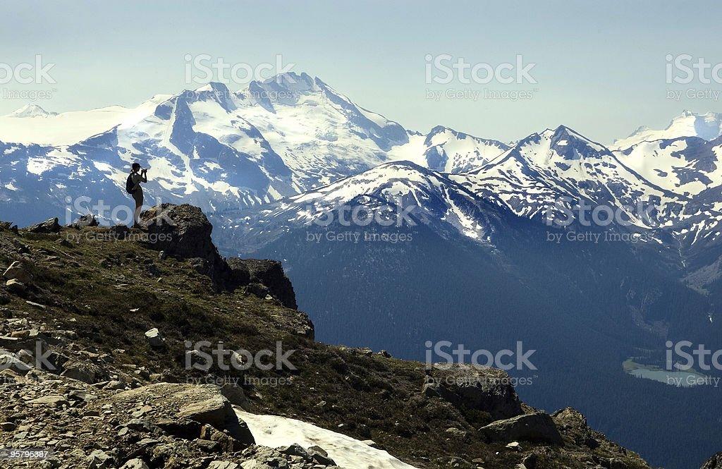 Mountain Photographer - Whistler stock photo