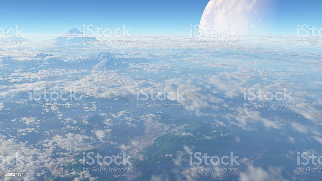 planeta montañaso stock photo