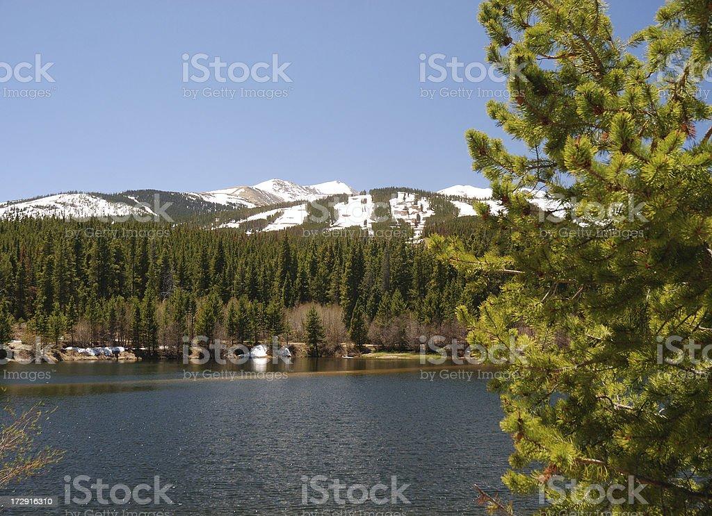 Mountain Pond royalty-free stock photo