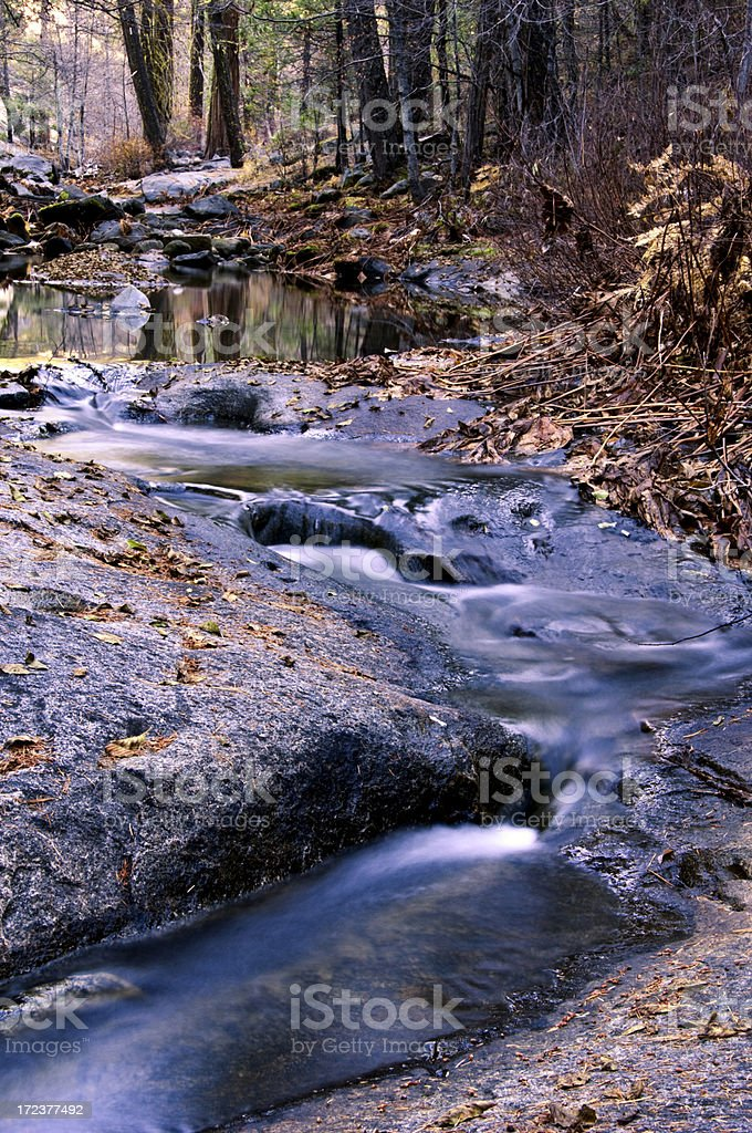 Mountain Pond with flowing water royalty-free stock photo