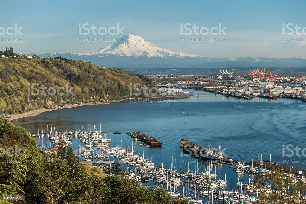 Mountain Port And Marina 2 stock photo