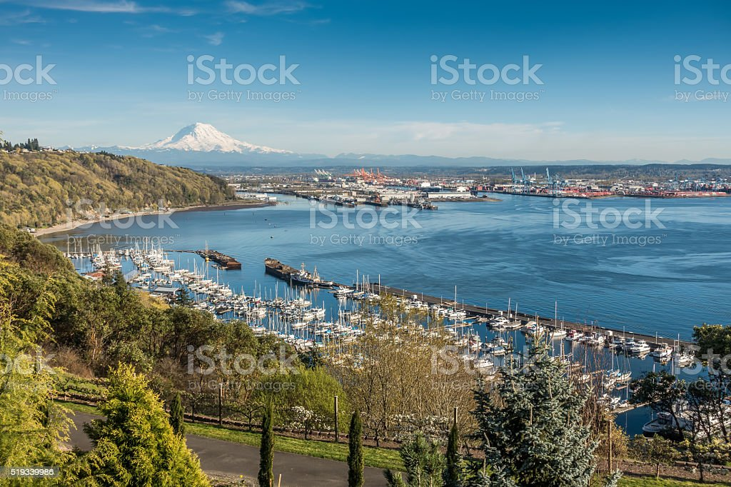 Mountain Port And Marina 3 stock photo