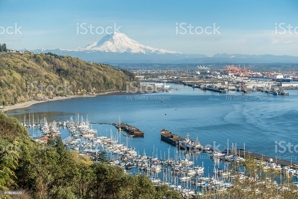 Mountain Port And Marina 4 stock photo