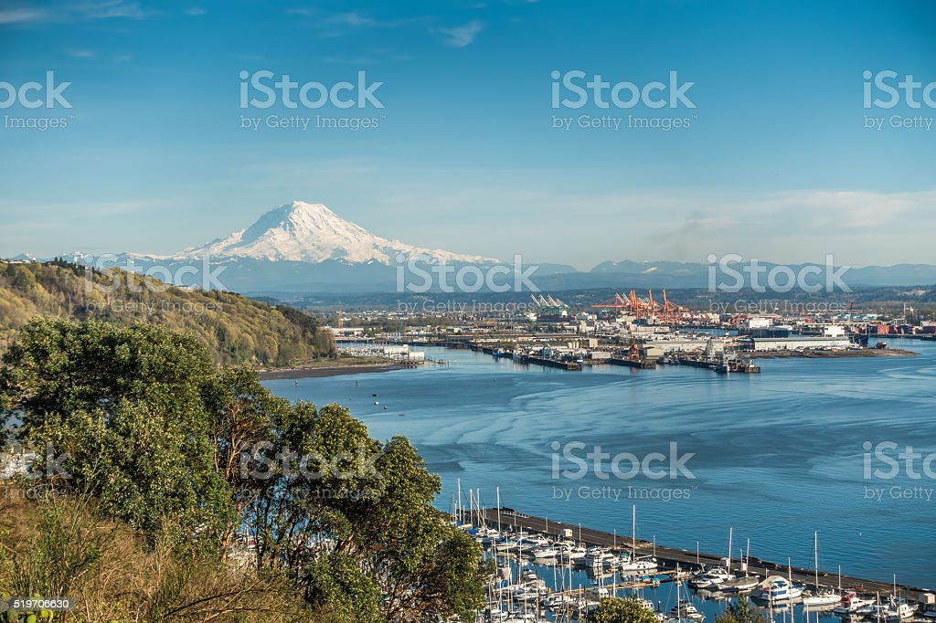 Mountain Port And Marina 7 stock photo