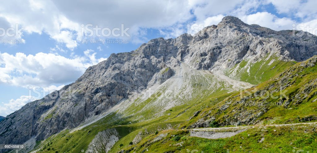 mountain Porze of the Carnic Alps stock photo