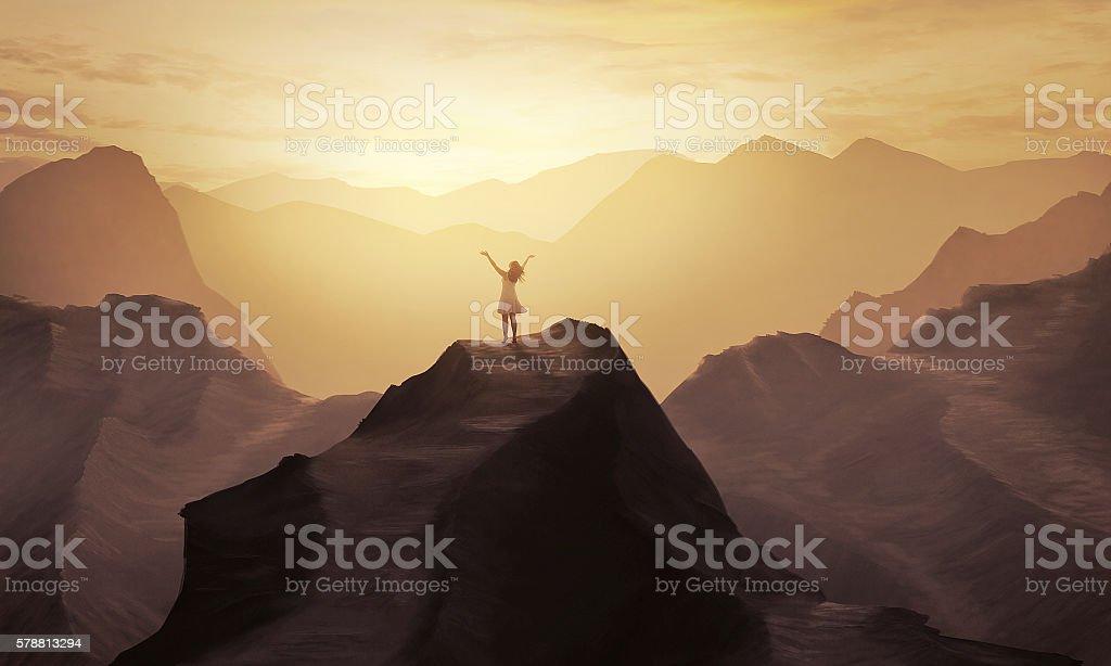 Mountain praise stock photo