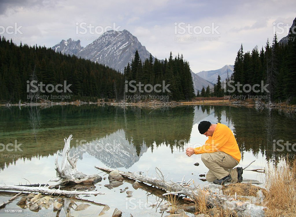 Mountain Prayer royalty-free stock photo