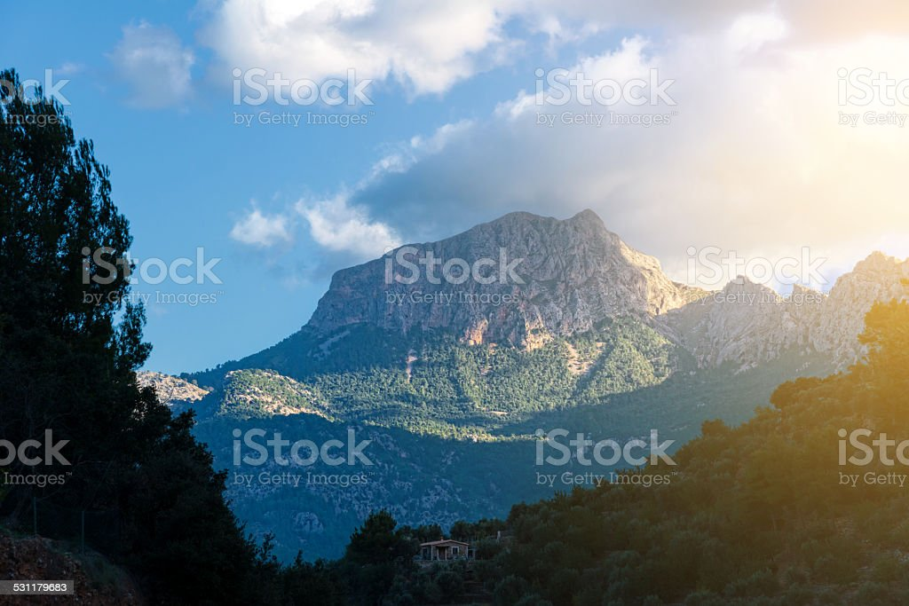 Mountain Puig Major im Mallorca, Spain stock photo