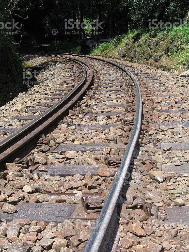Mountain Railroad Tracks stock photo