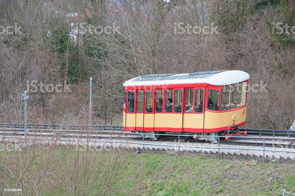 Mountain railway in Karlsruhe Durlach stock photo