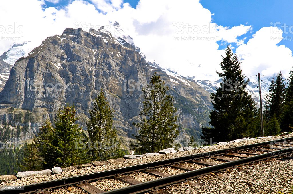 Mountain Railway, Swiss Alps stock photo