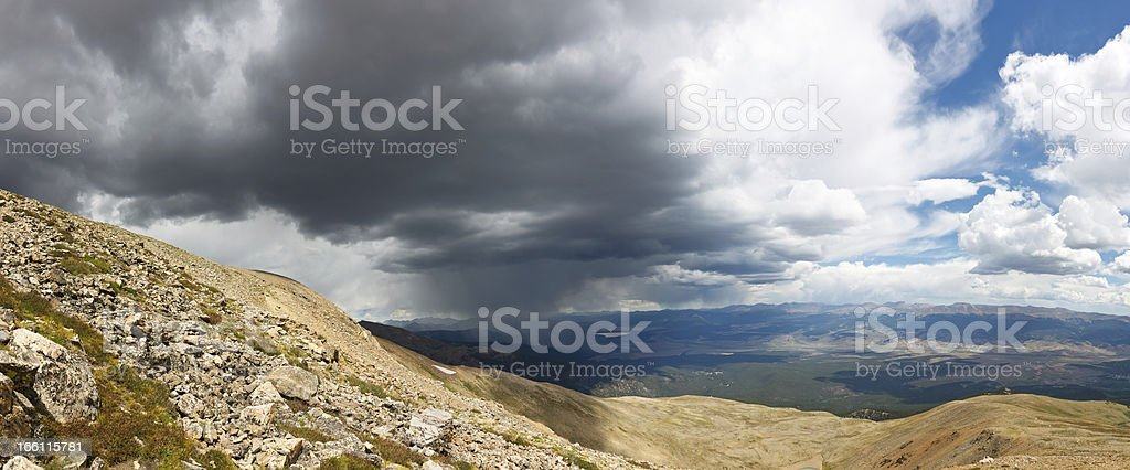 Mountain Rain Storm Panorama royalty-free stock photo