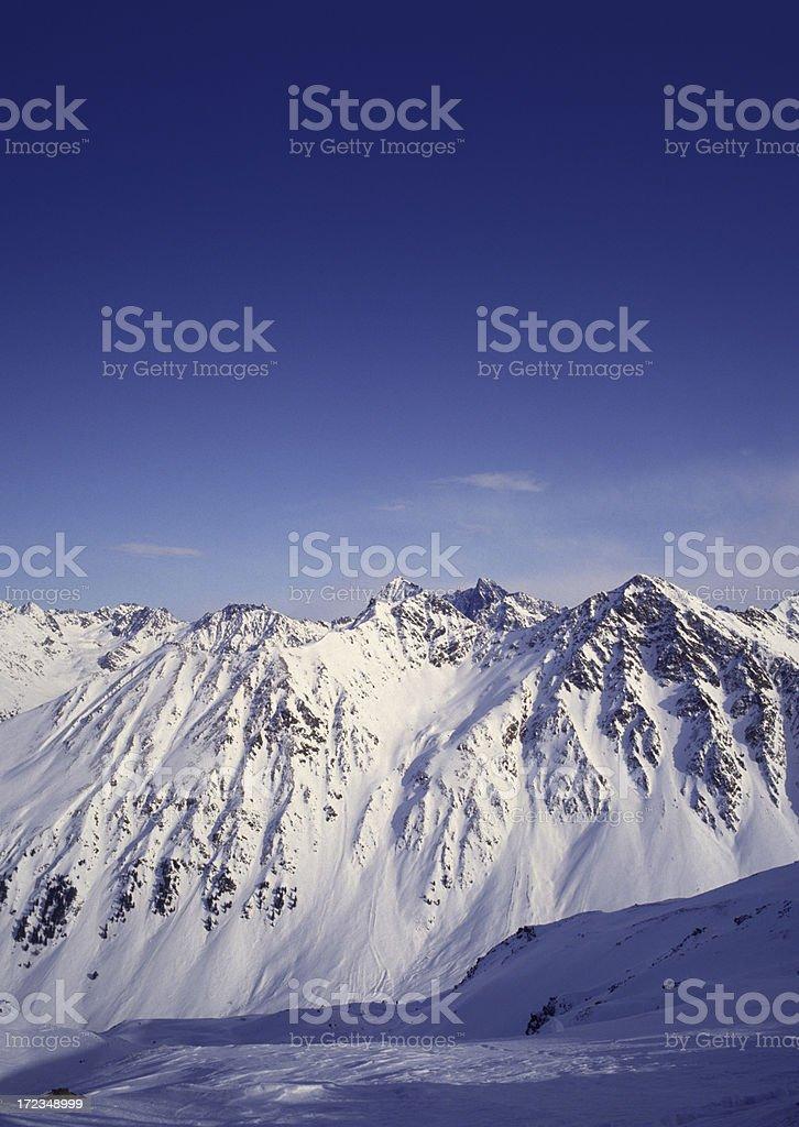 Mountain range, Austria royalty-free stock photo