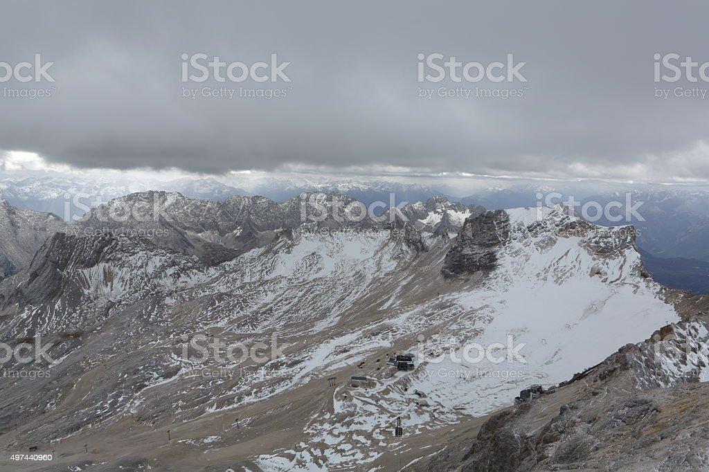 Mountain Range from Zugspitze stock photo