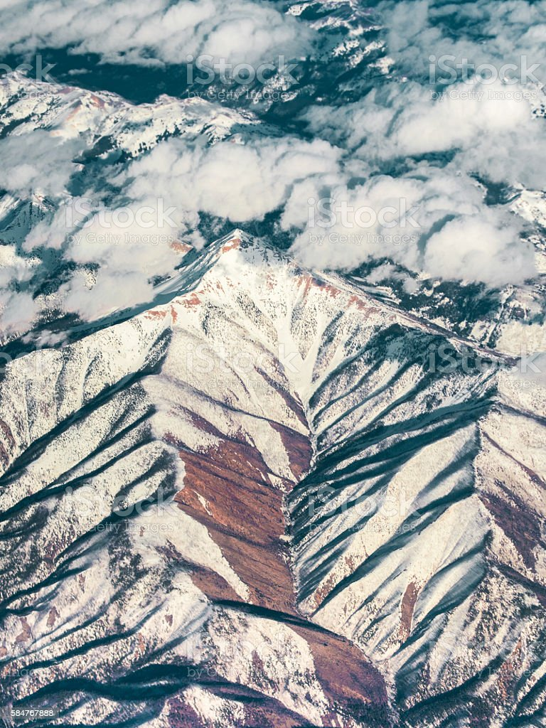 Mountain Range in Central USA stock photo