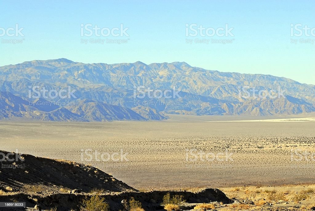 Mountain range in Death Valley royalty-free stock photo