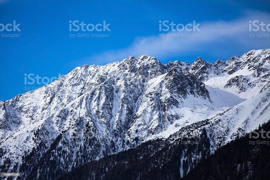 Mountain range in Italian alps, Antholz-Anterselva, Italy stock photo