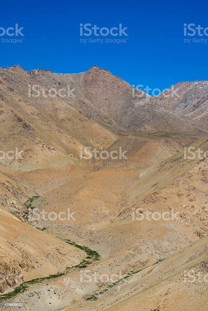 Mountain Range in Leh Ladakh,India. stock photo