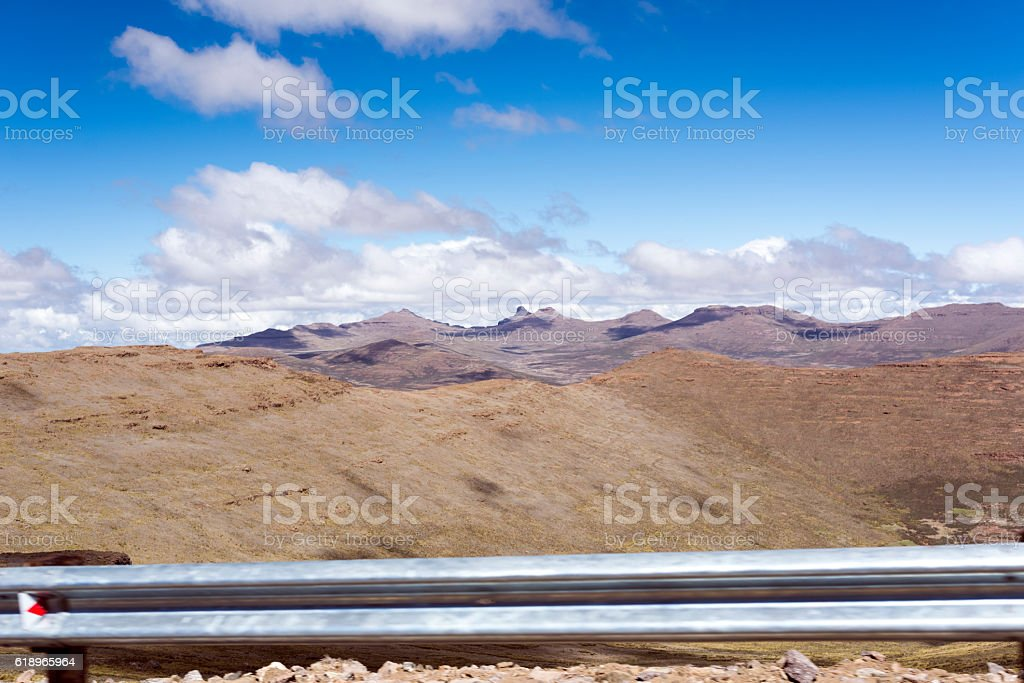 Mountain Range In Lesotho Africa stock photo