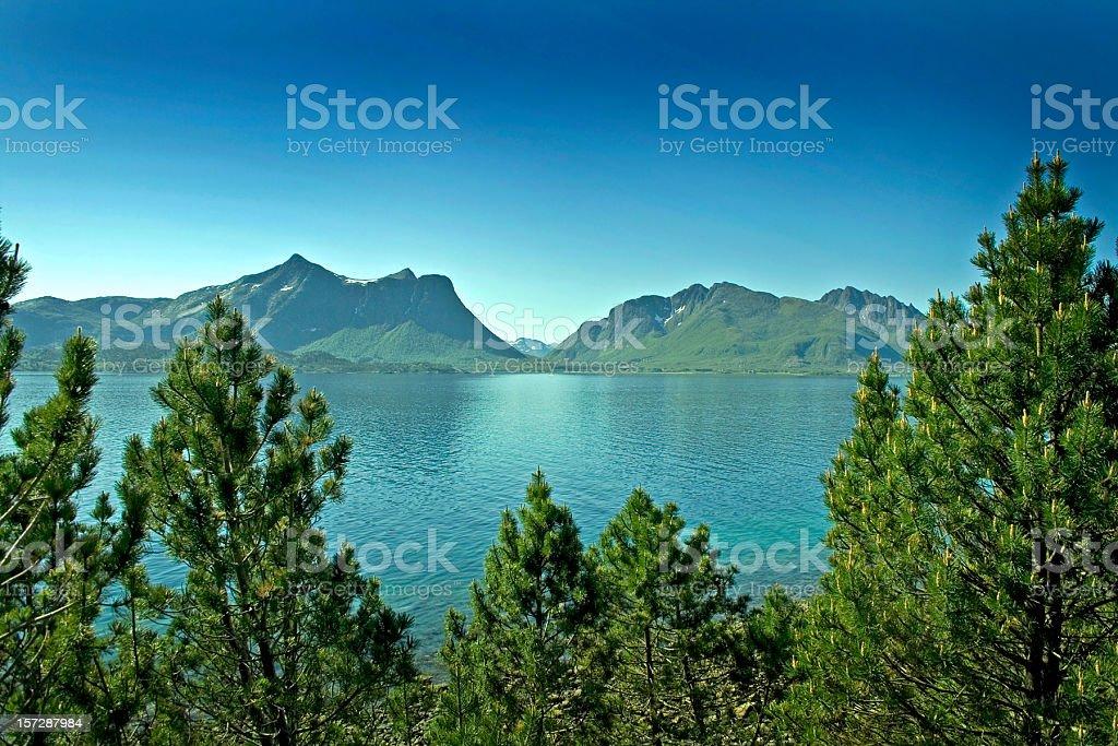 Mountain range in Norway royalty-free stock photo