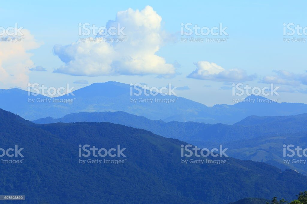 Mountain Range in the Afternoon stock photo