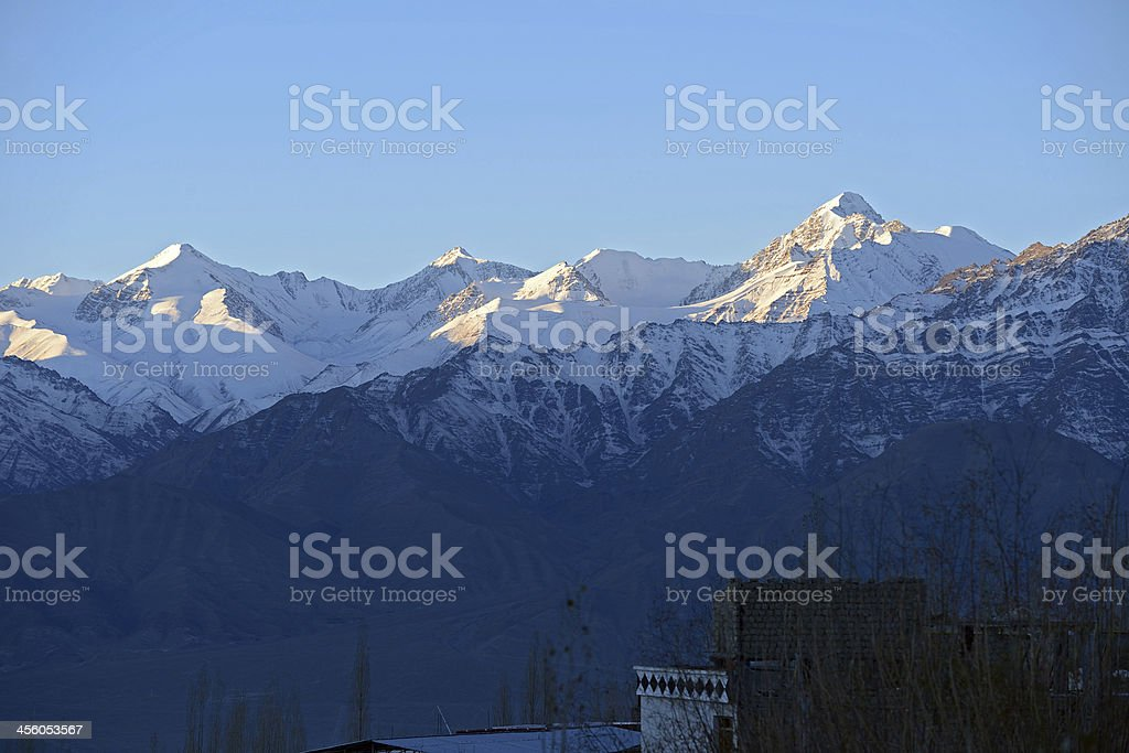 Mountain range, Leh, Ladakh, India stock photo
