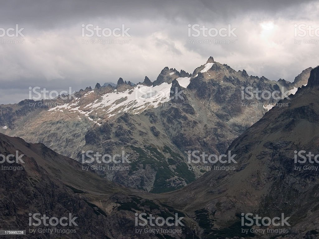 Mountain Range - 'Parque Nacional Nahuel Huapi' royalty-free stock photo