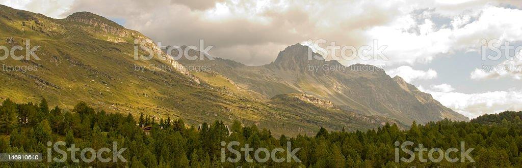 mountain range near Maloja, engadin, switzerland royalty-free stock photo