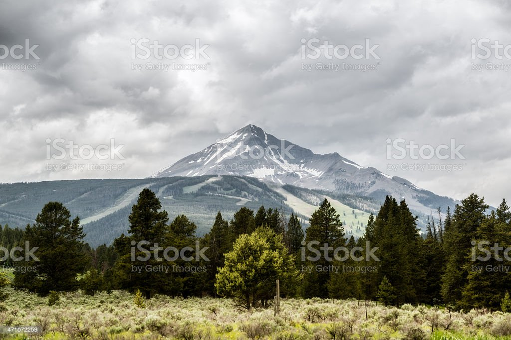 Mountain Range on a Cloudy Day royalty-free stock photo