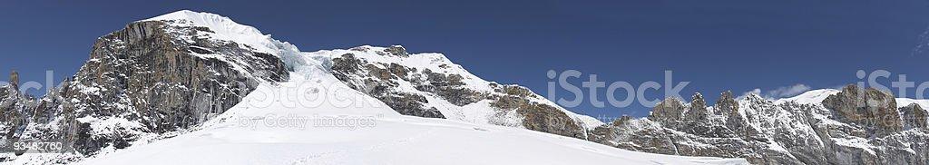 Mountain range panorama, Himalaya, Nepal royalty-free stock photo
