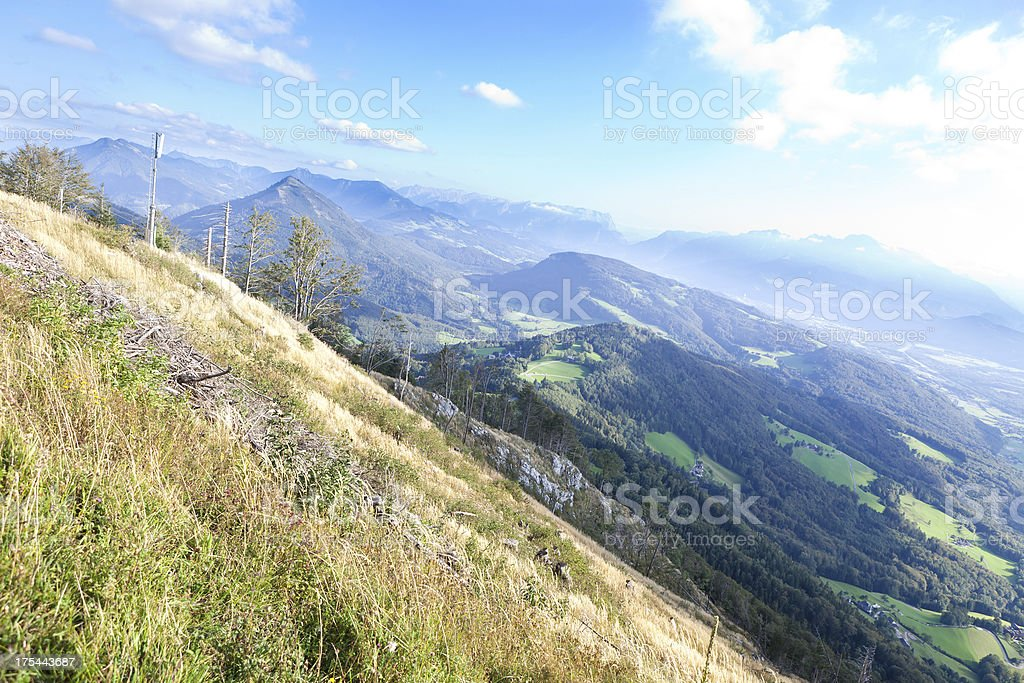 mountain range stock photo
