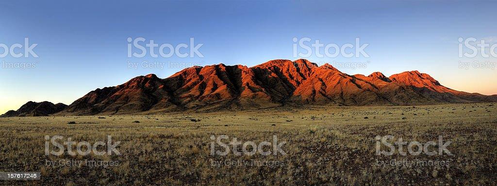 Mountain range shortly before sunset royalty-free stock photo