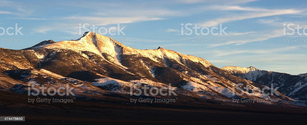 Mountain Range Surrounds Great Basin National Park Nevada stock photo