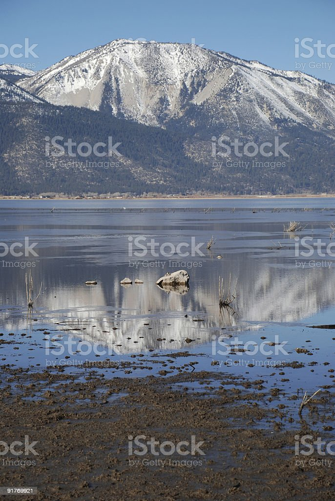Mountain Reflecting in a Lake royalty-free stock photo